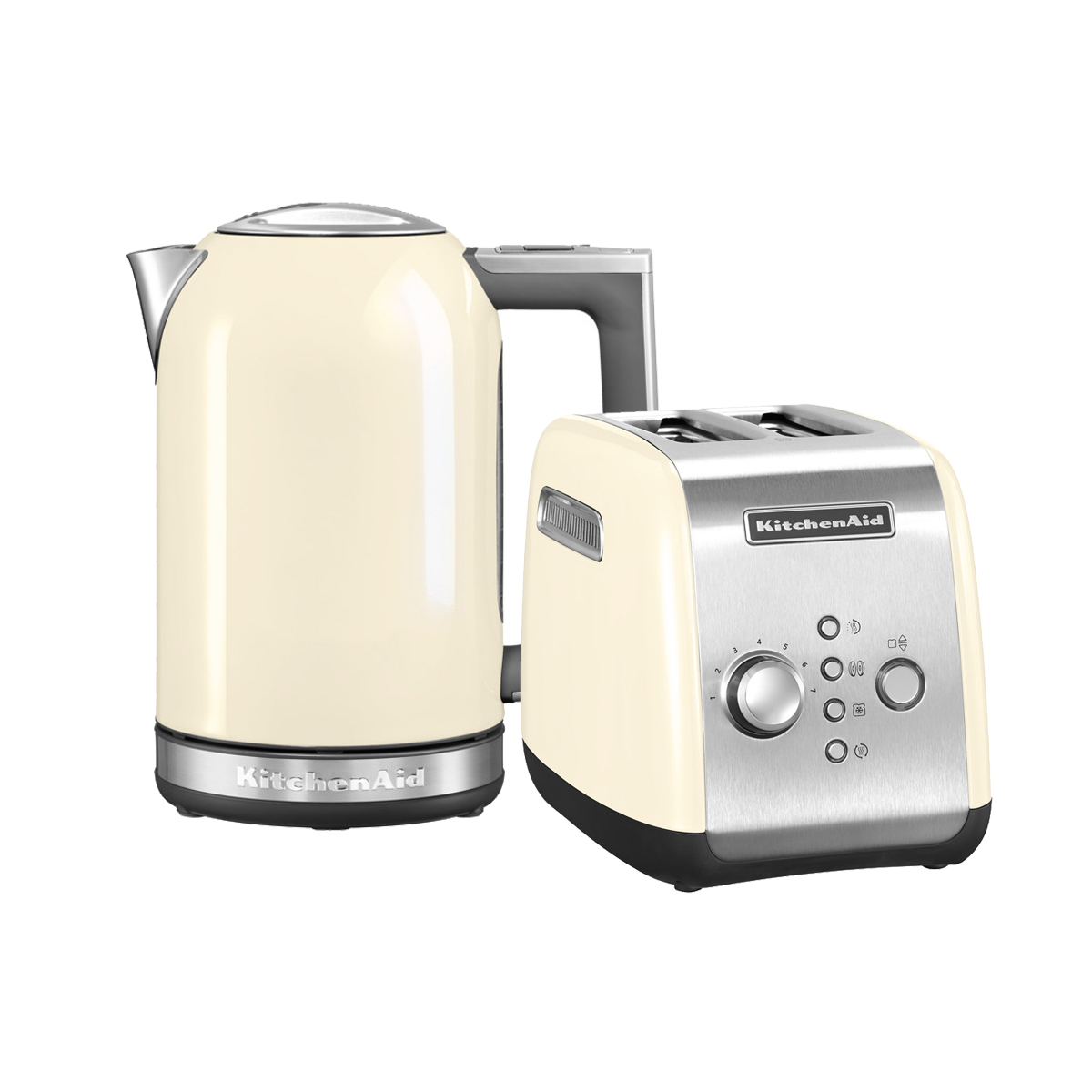 KitchenAid Набор Завтрак KitchenAid Тостер 5KMT221EAC + Чайник 5KEK1722EAC, кремовый